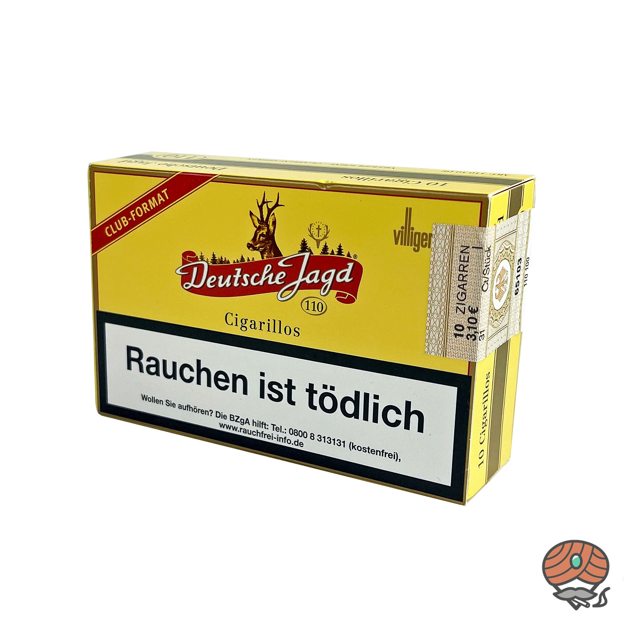Deutsche Jagd 110 Zigarillos im Club Format