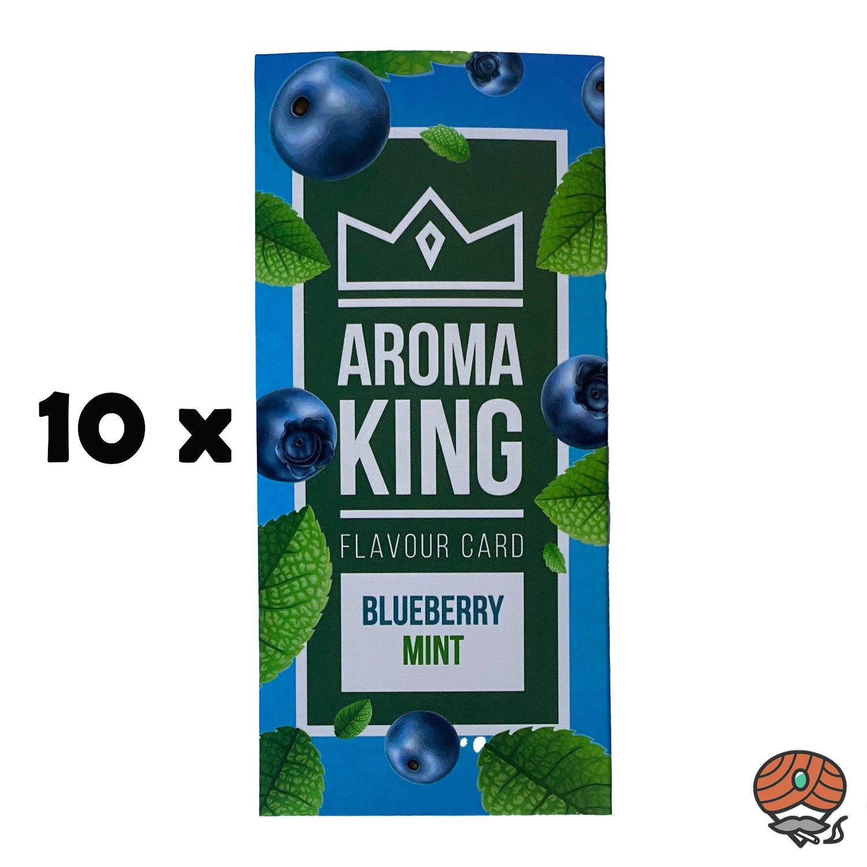 10 x Aromakarte BLUEBERRY MINT von Aroma King - Aroma für Tabak & Zigaretten