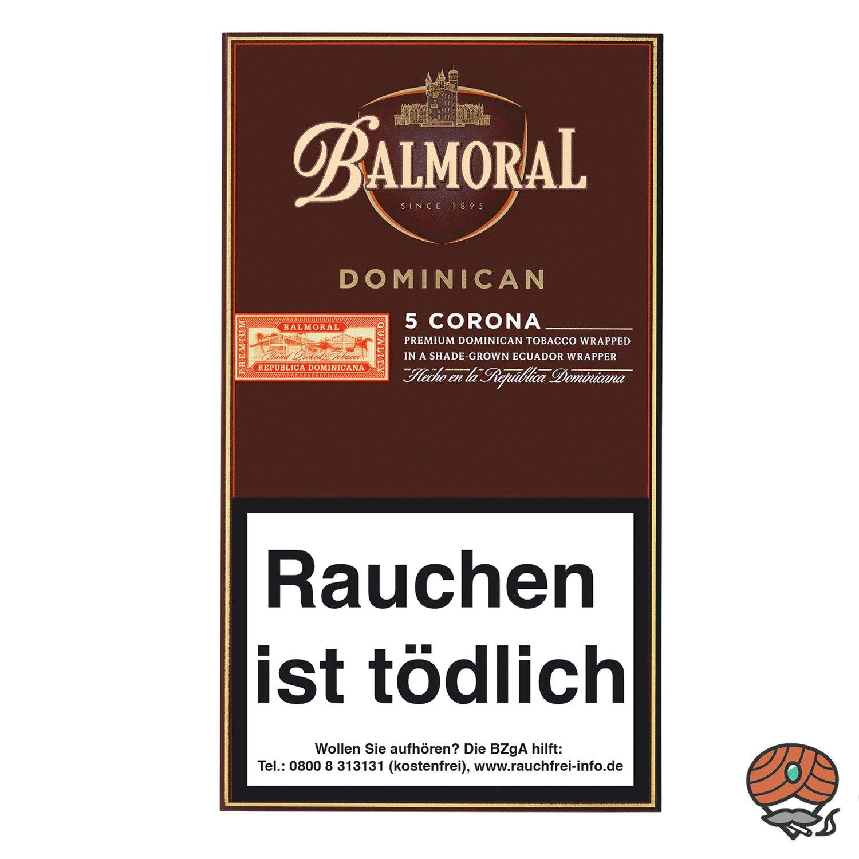 Balmoral Dominican Selection Corona Zigarren, 5 Stück