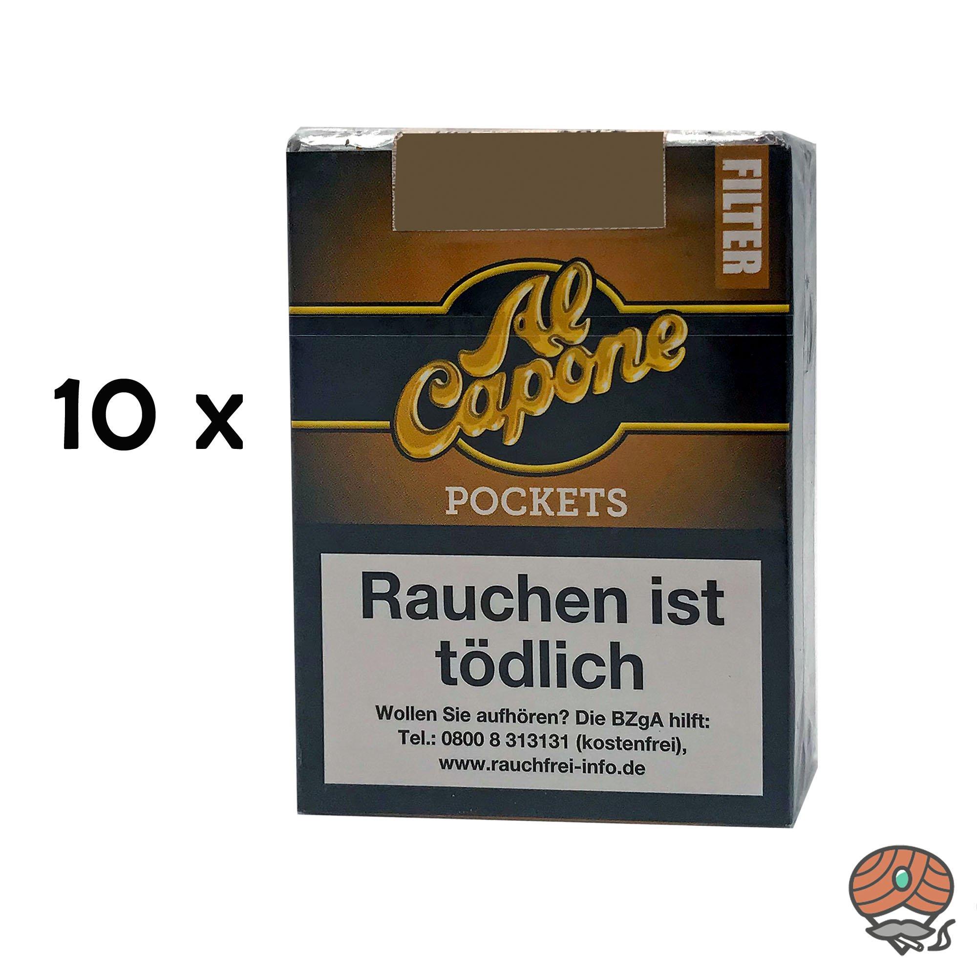 10 x Al Capone Pockets Gold Blend Filterzigarillos