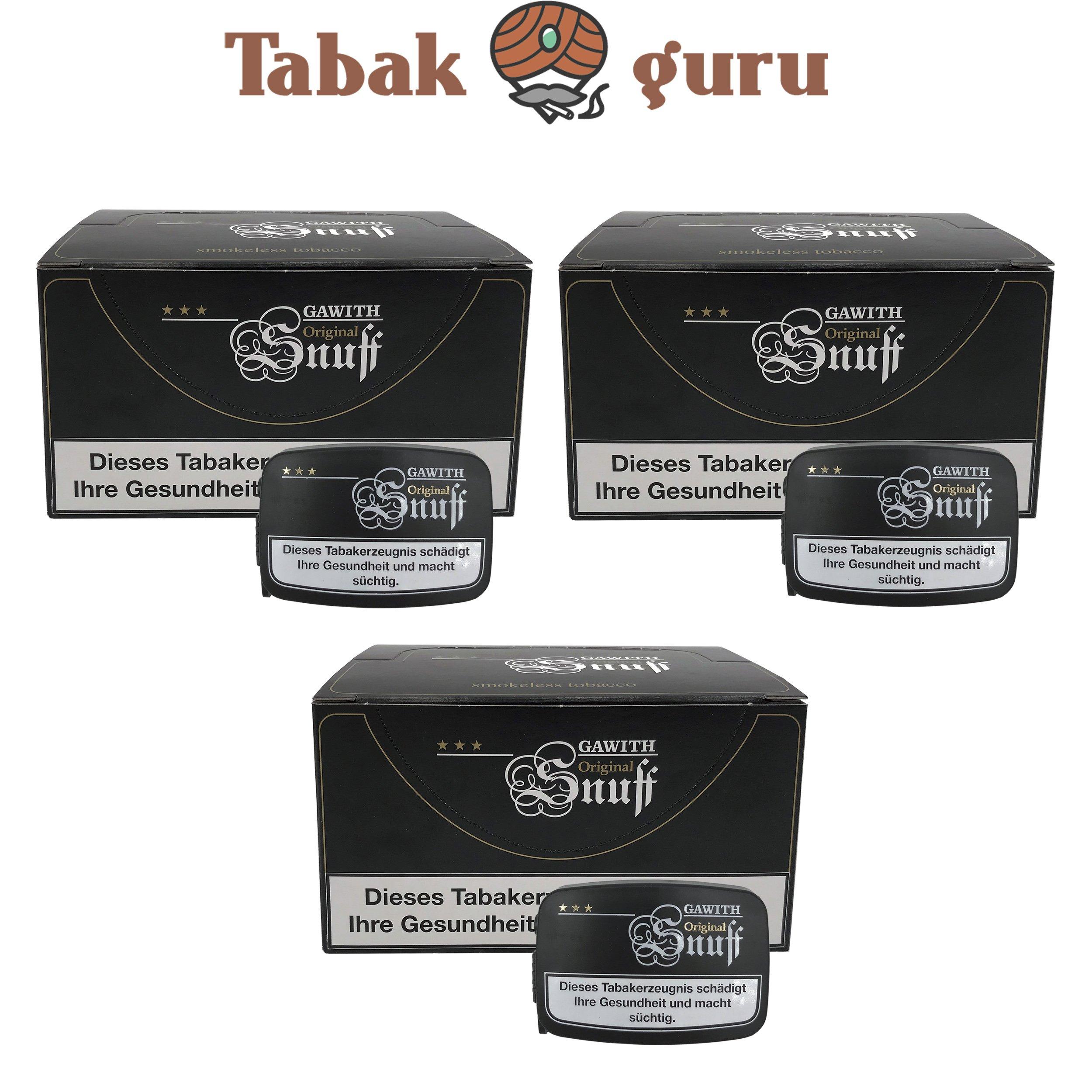 60x Gawith Original Snuff Schnupftabak Dose á10 g