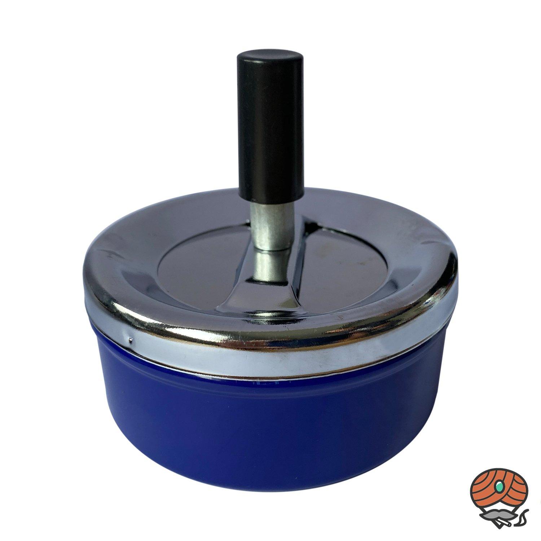 Schleuderaschenbecher / Drehascher 9 cm, blau