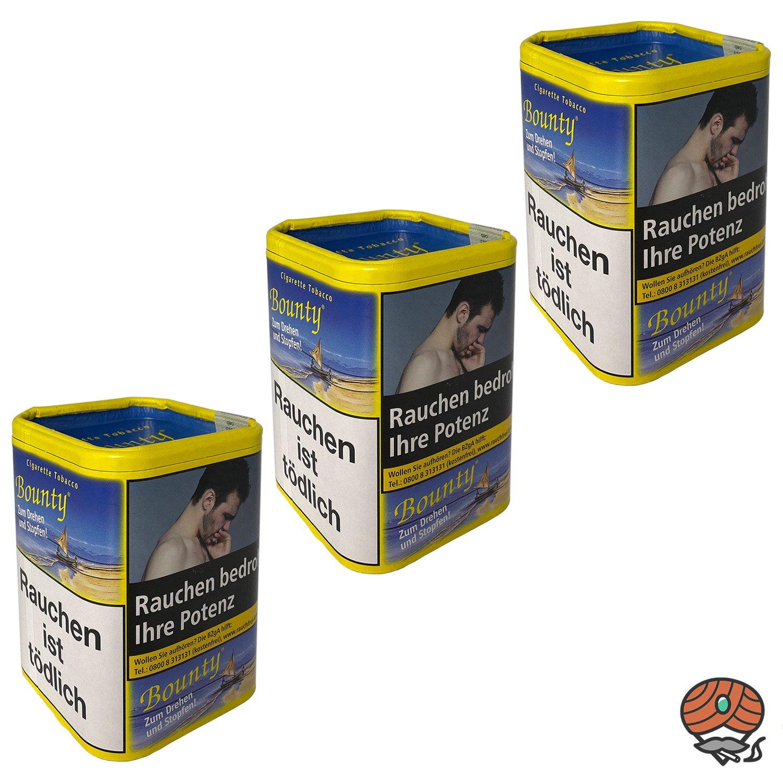 3x Bounty Feinschnitt-Tabak / Zigarettentabak Dose à 200 g