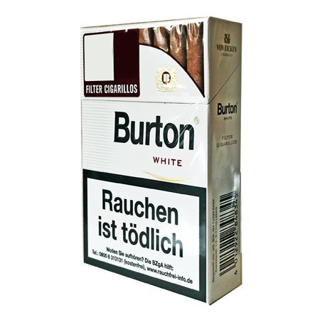 Burton Blau (ehem. Whithe) Filterzigarillos 10 Schachteln à 17 Stück