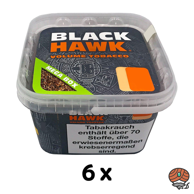 6x Black Hawk Volumentabak Mega Box à 230g