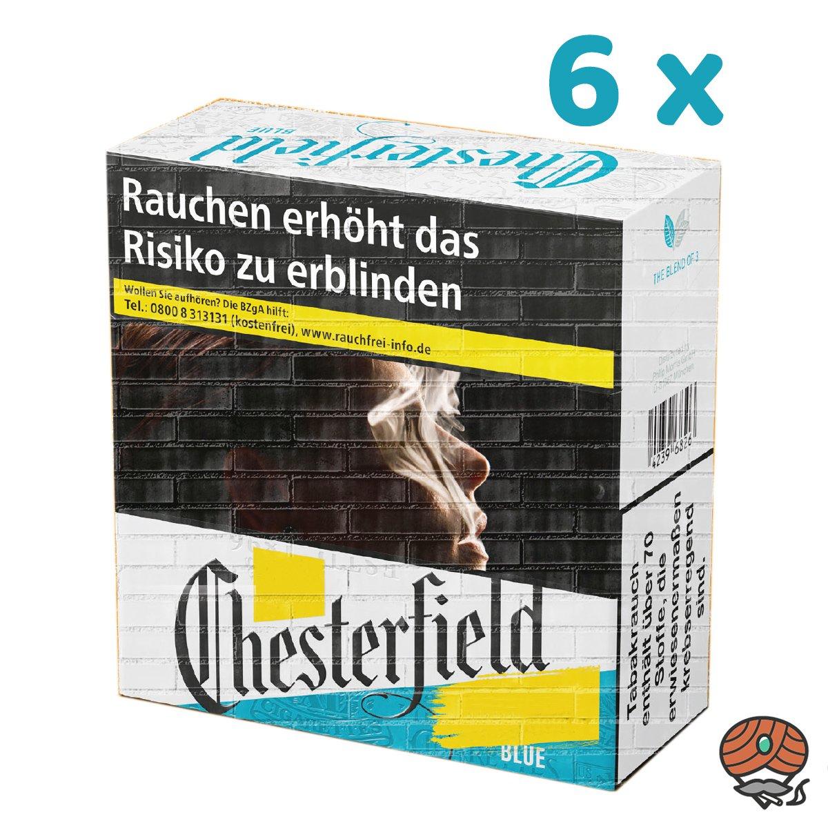 1 Stange Chesterfield BLUE / BLAU Zigaretten - 6 x 49 Stück