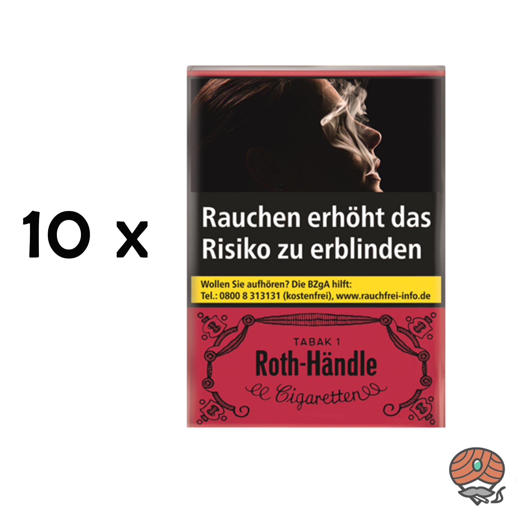Stange Roth Händle Zigaretten 20 Stück (ohne Filter)