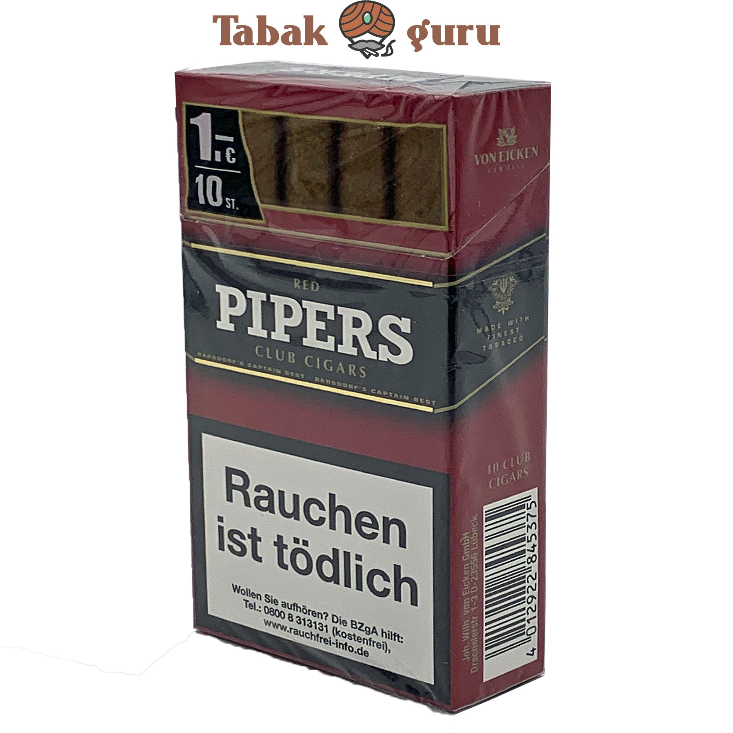 Pipers Club Cigars Red Cherry (10 Zigarren)