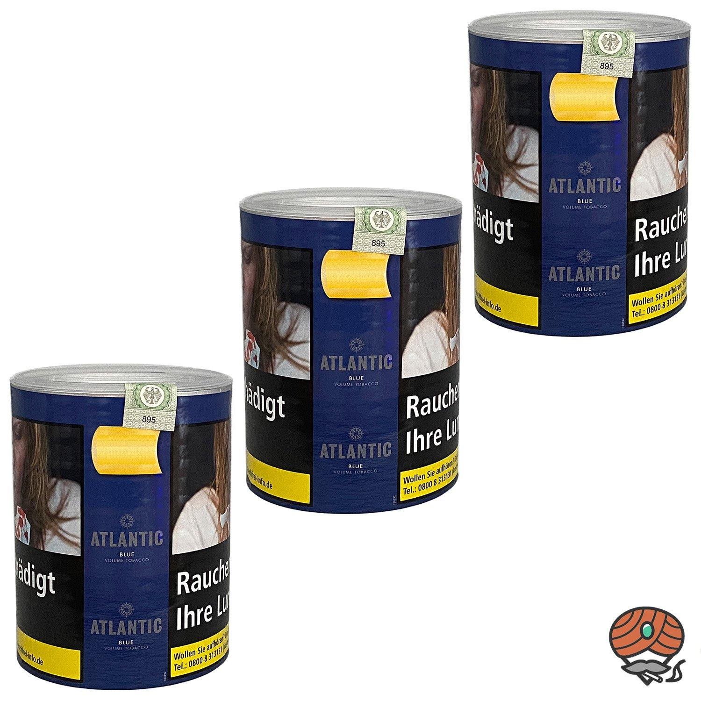 3x ATLANTIC Blue Tabak / Volumentabak Dose à 70 g