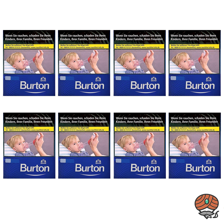 1 Stange Burton Blue / Blau (ehem. White) Zigaretten XL Schachtel 8x24 Stück