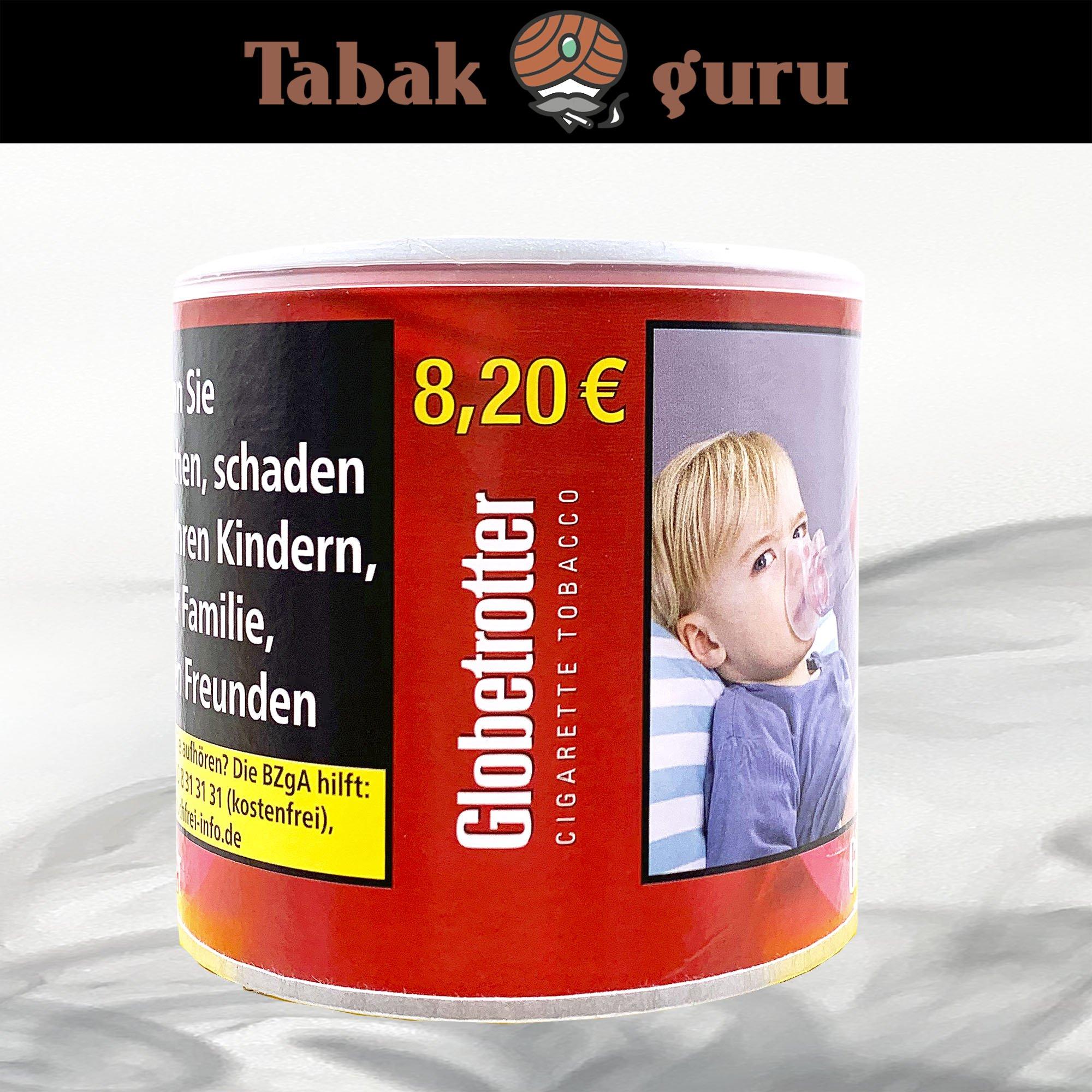Globetrotter Red Zigarettentabak, Volumentabak, 70g Dose