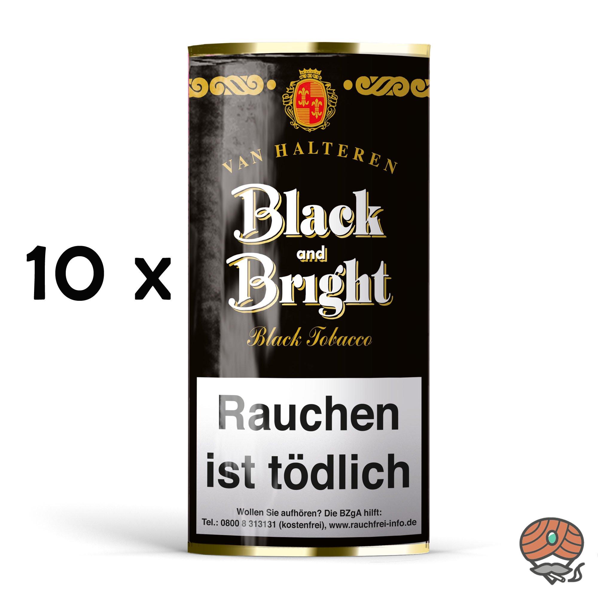 10x Van Halteren Black and Bright Pfeifentabak à 50g