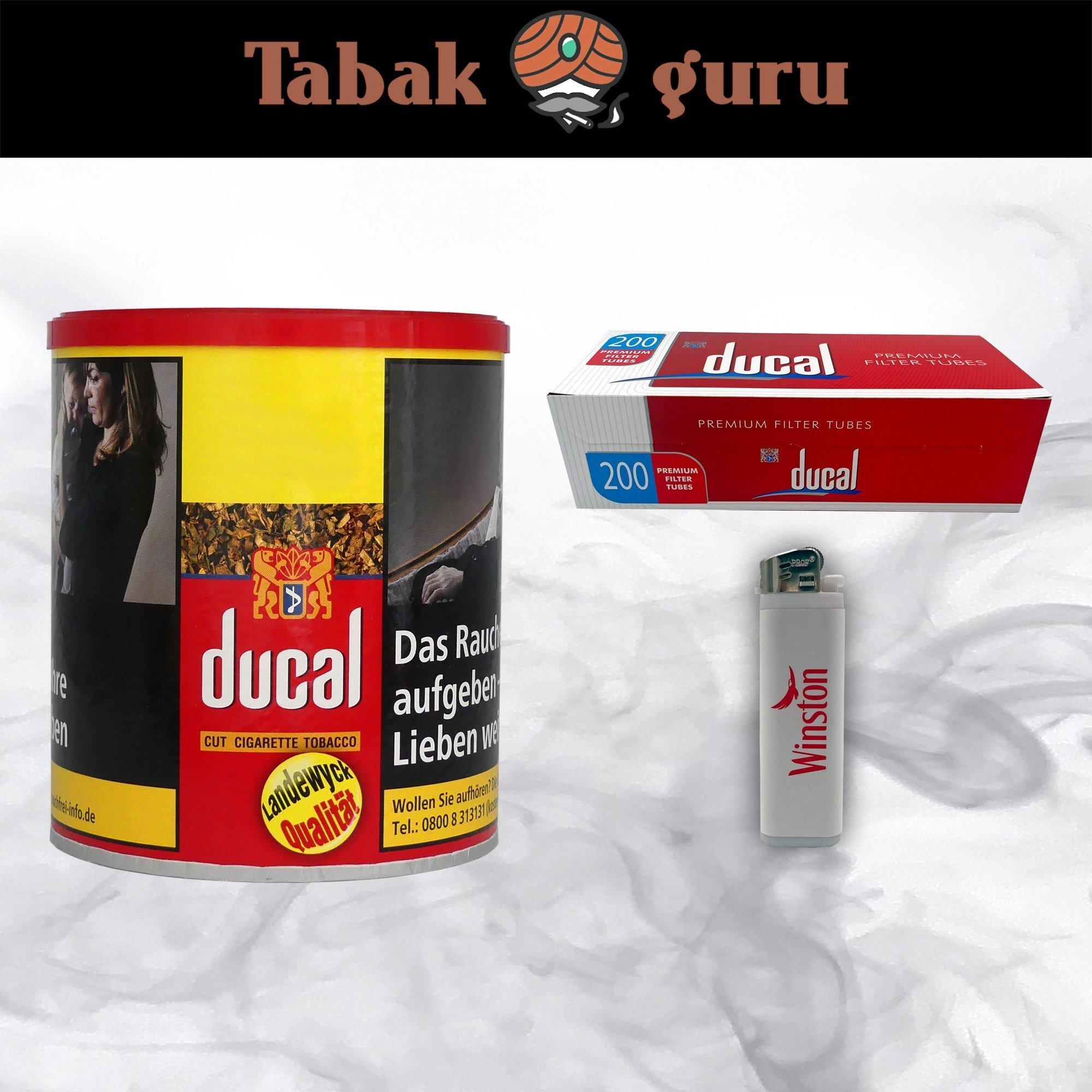 Ducal Cut Tobacco Zigarettentabak 63g Dose + ducal Hülsen + Feuerzeug