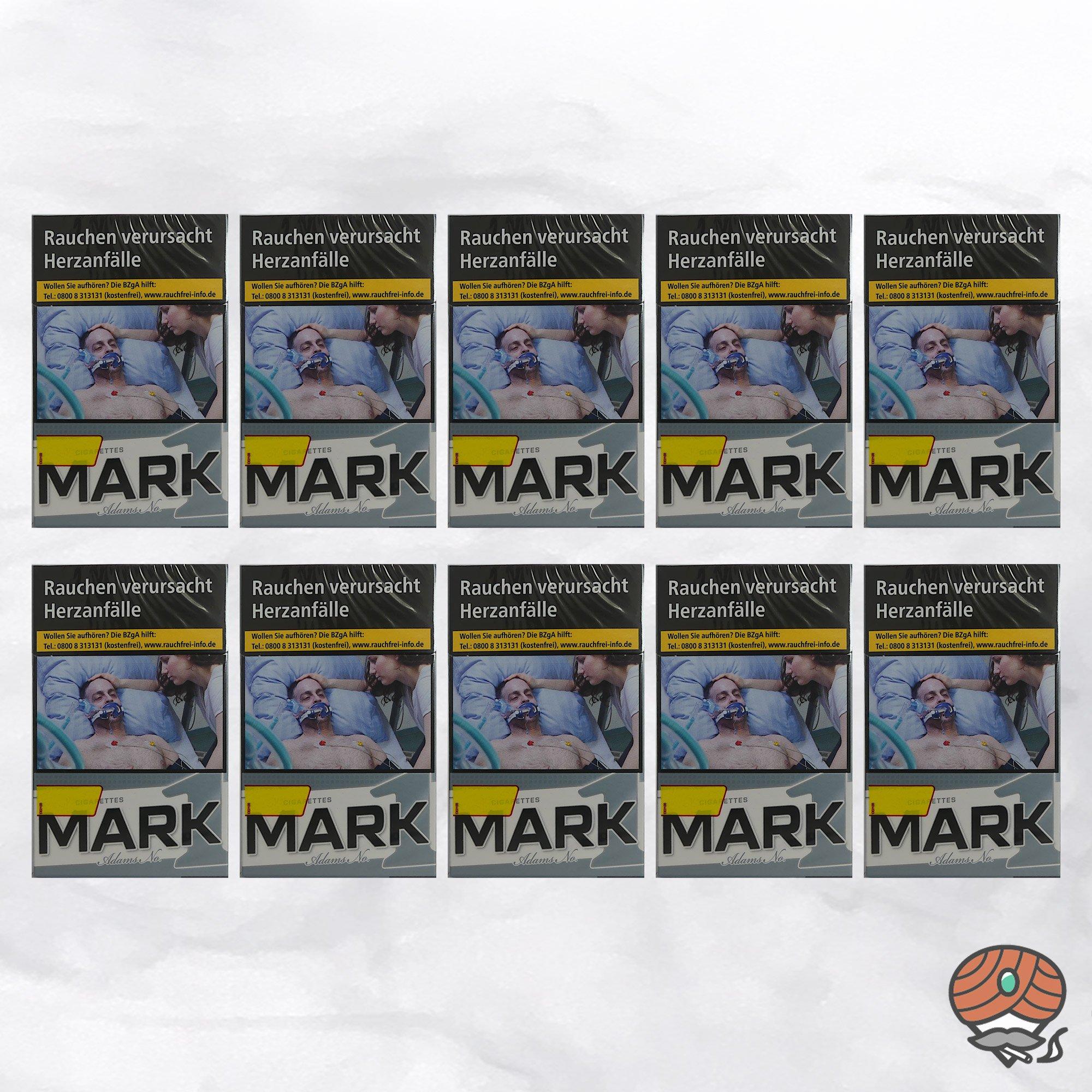 10 x Mark Adams No. 1 / Mark1 Original Silver Zigaretten - 1 Stange à 20 Stück