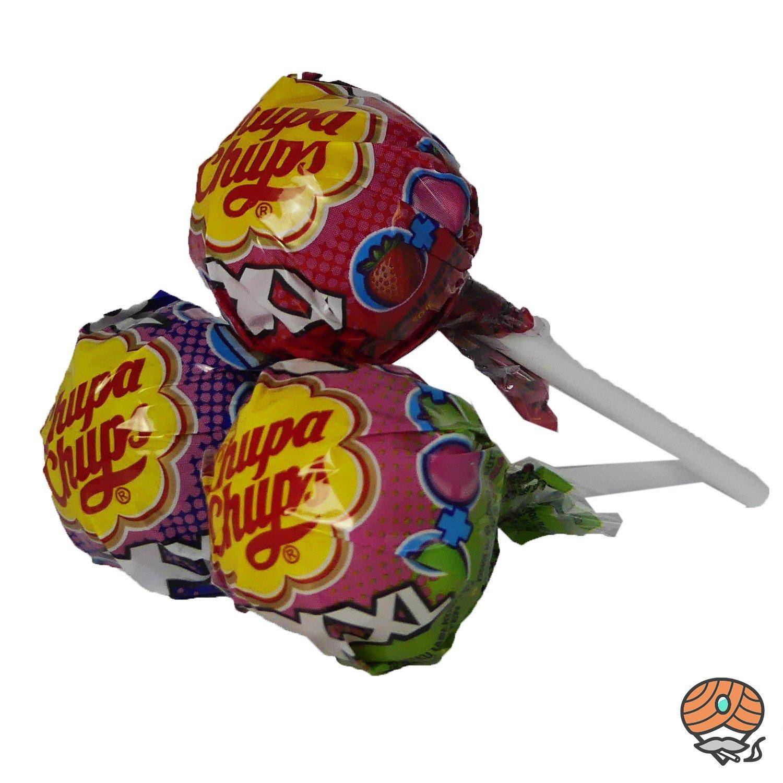 3 x Chupa Chups XXL The Biggest Bubblegum Lollipop mit Kaugummi à 29 g