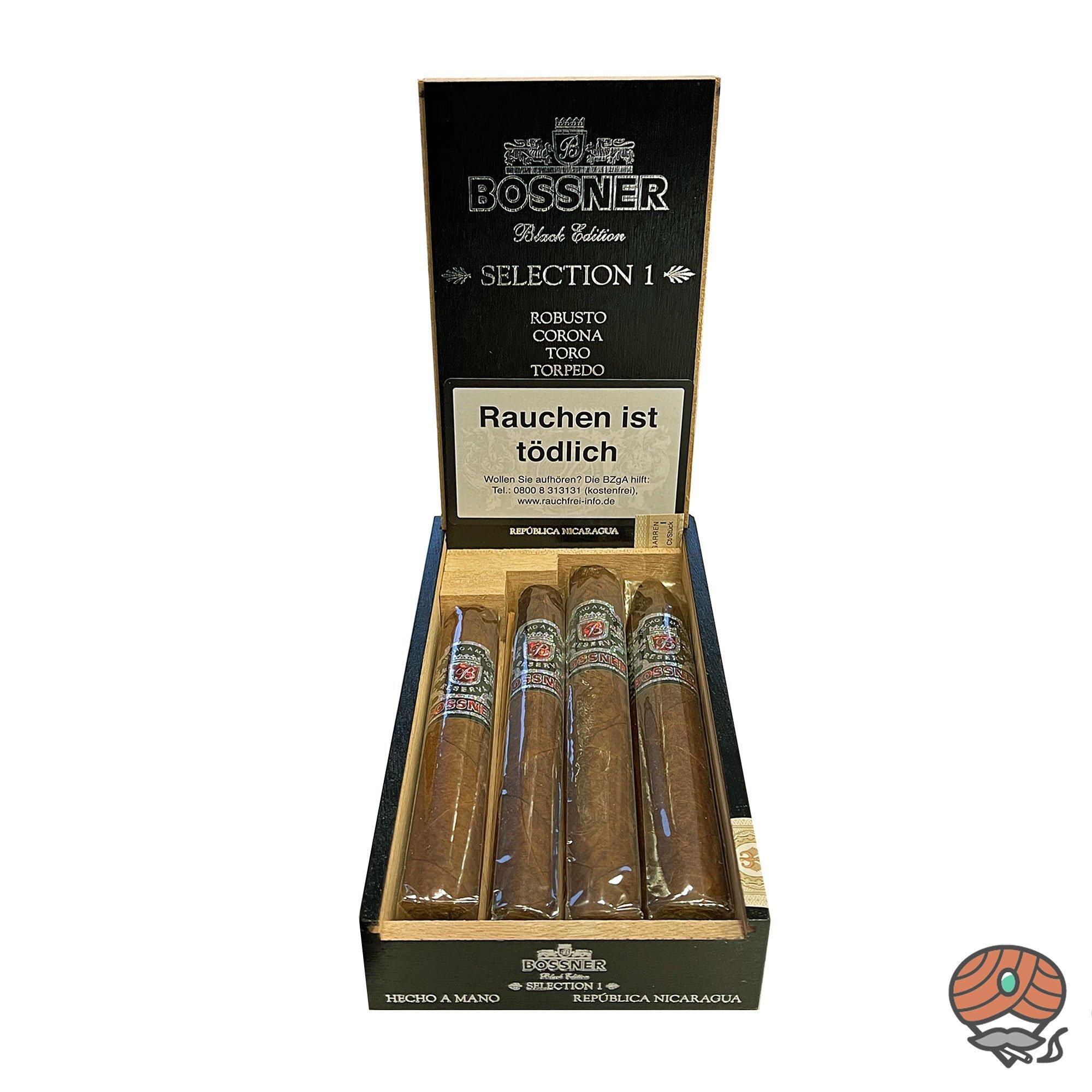 Bossner Black Edition Selection 1 Nicaragua Zigarren 4er Sampler