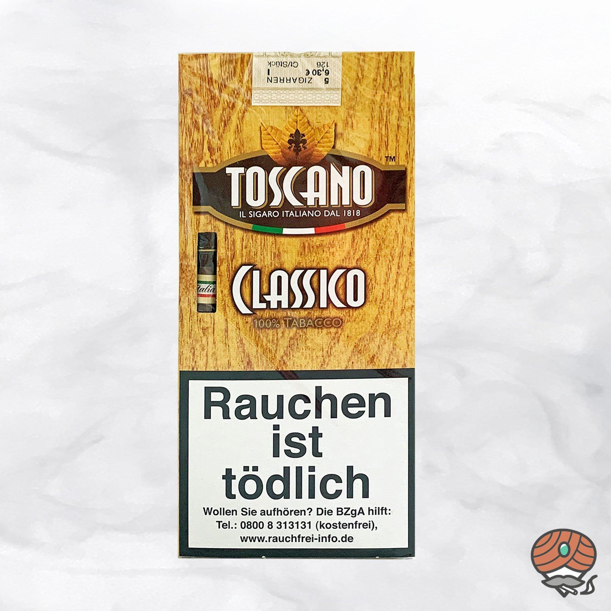 Toscano Classico 100% Tabacco Zigarren Inhalt 5 Stück