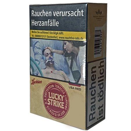 Lucky Strike Authentic Red Zigaretten ohne Zusätze Inhalt 20 Stück