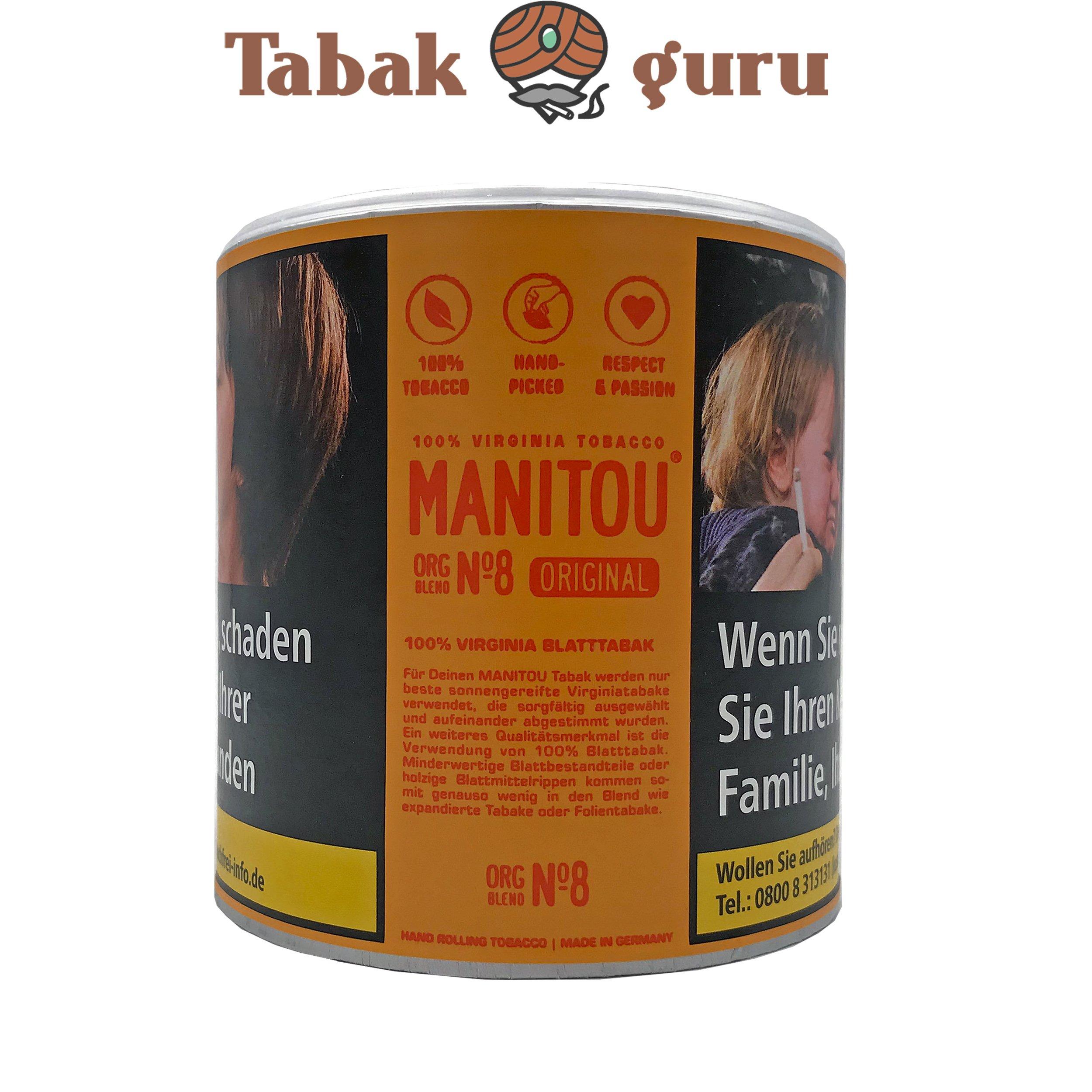 Manitou Orginal Blend No.8 80g Dose Drehtabak Zigarettentabak