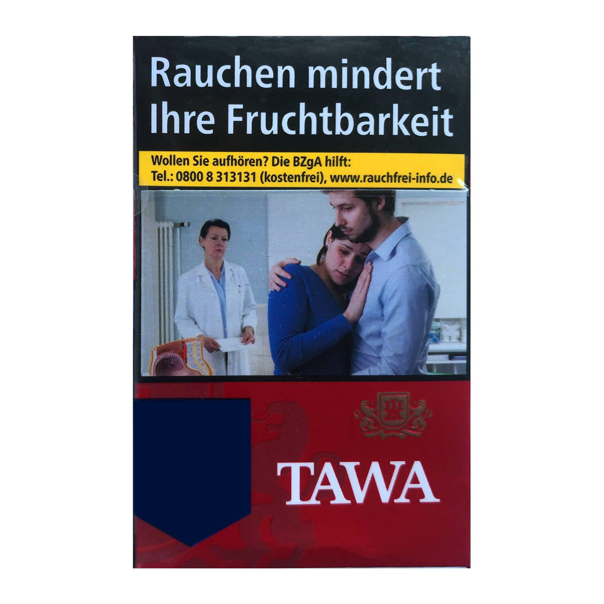 Tawa Red / Rot Big Zigaretten - 24 Stück