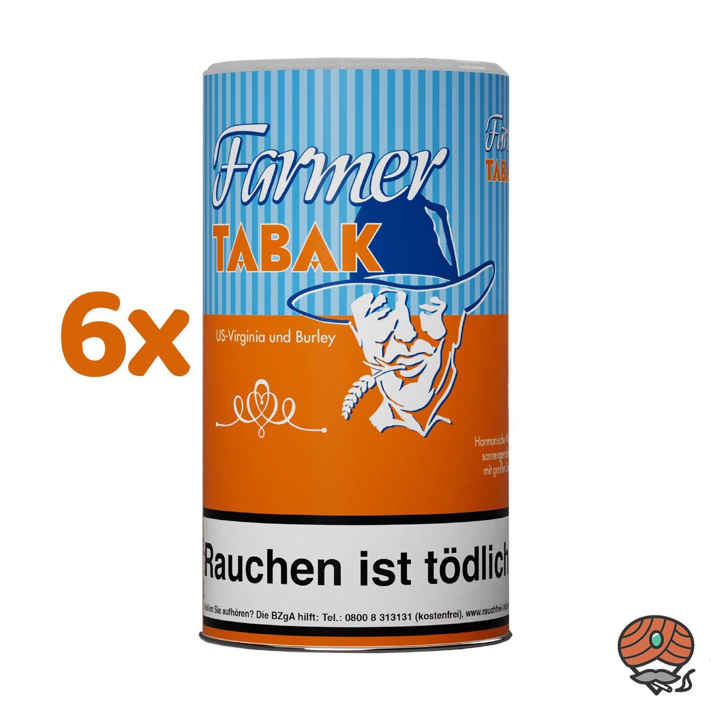 6 x Farmer Tabak Pfeifentabak / Stopftabak 170 g Dose