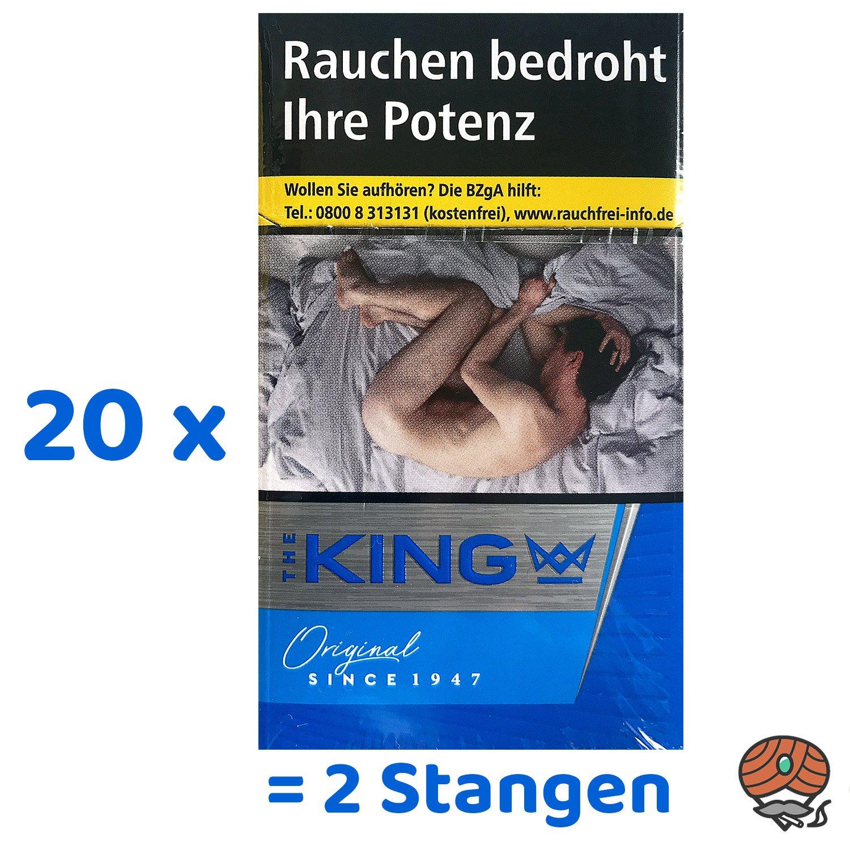 2 Stangen The KING Original Blue Zigaretten 20x20 Stück