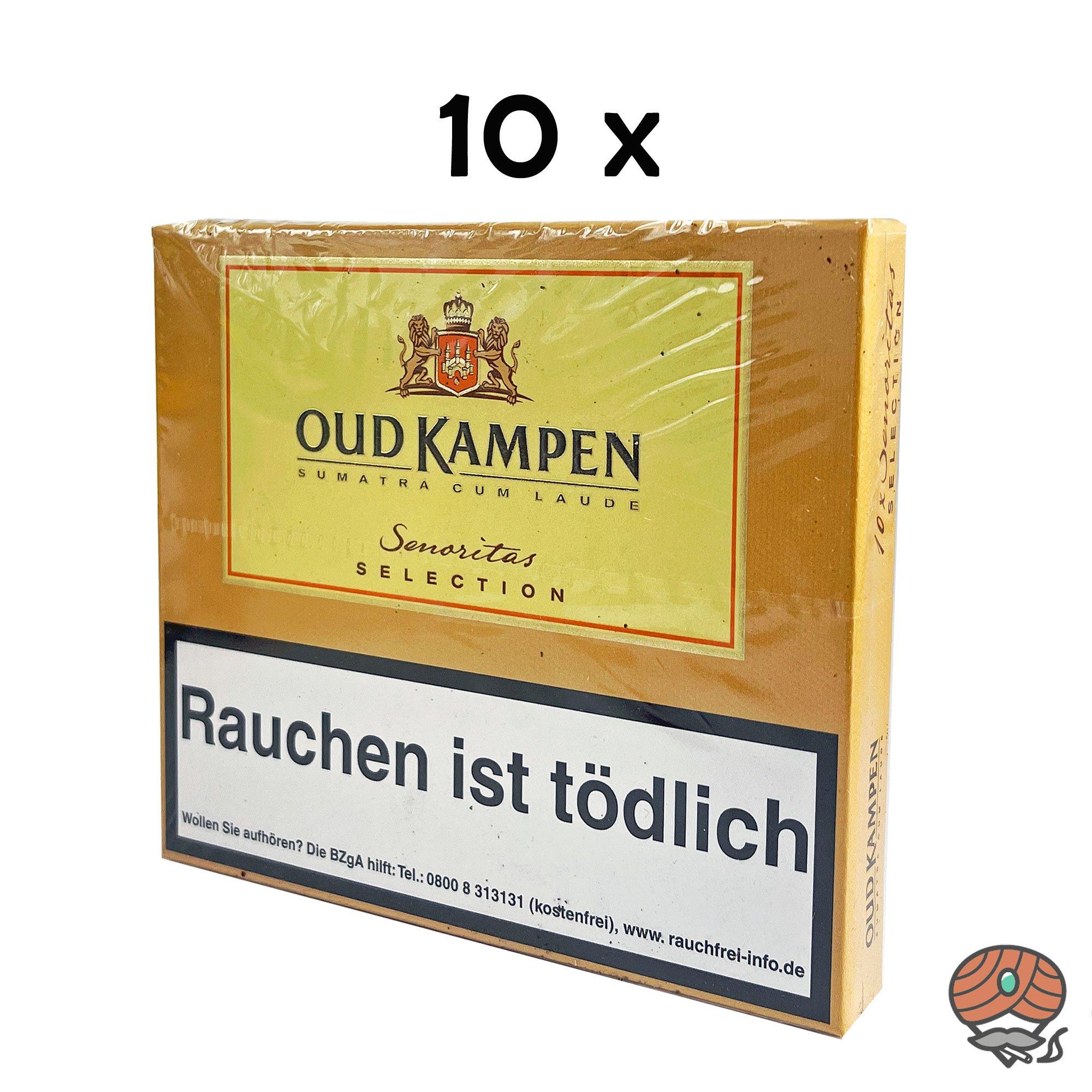 10x Oud Kampen Senoritas Selection Zigarillos 100% Tabak