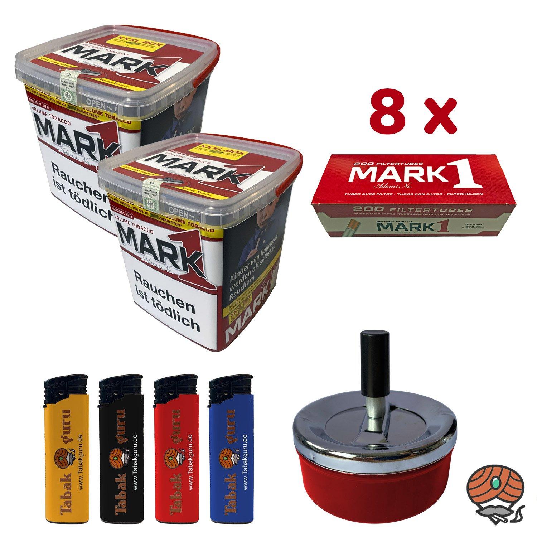 2x Mark Adams No. 1 Volumentabak à 400g XXXL-Box, 8x Mark1 Hülsen, Zubehör