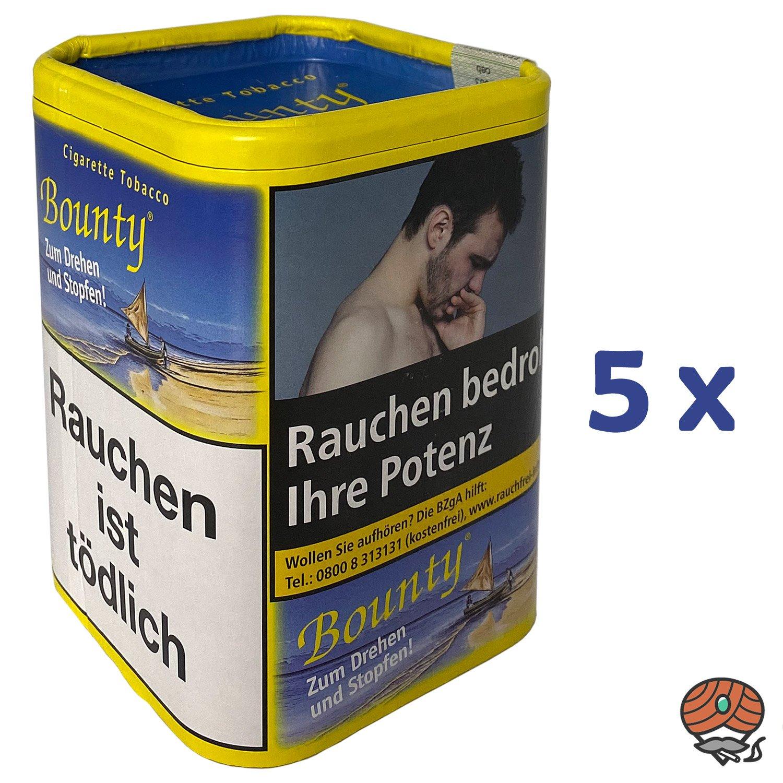 5 x Bounty Feinschnitt-Tabak / Zigarettentabak Dose à 200 g