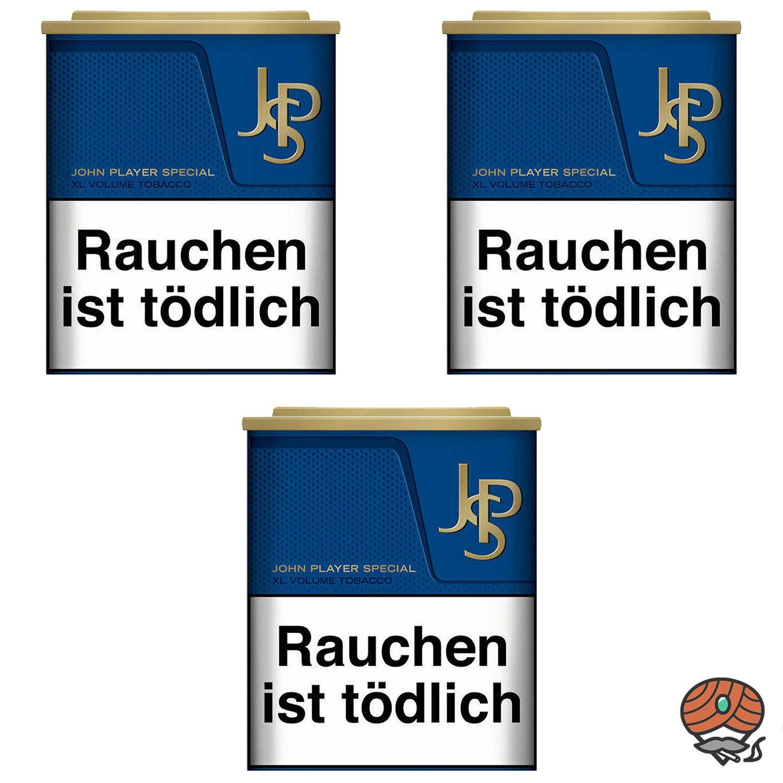 3 x JPS John Player Special Blue / Blau XL Volumentabak Dose à 42 g