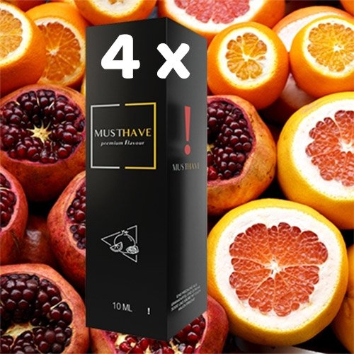 4 x MUSTHAVE ! 10 ml Aroma + Leerflasche, Longfill