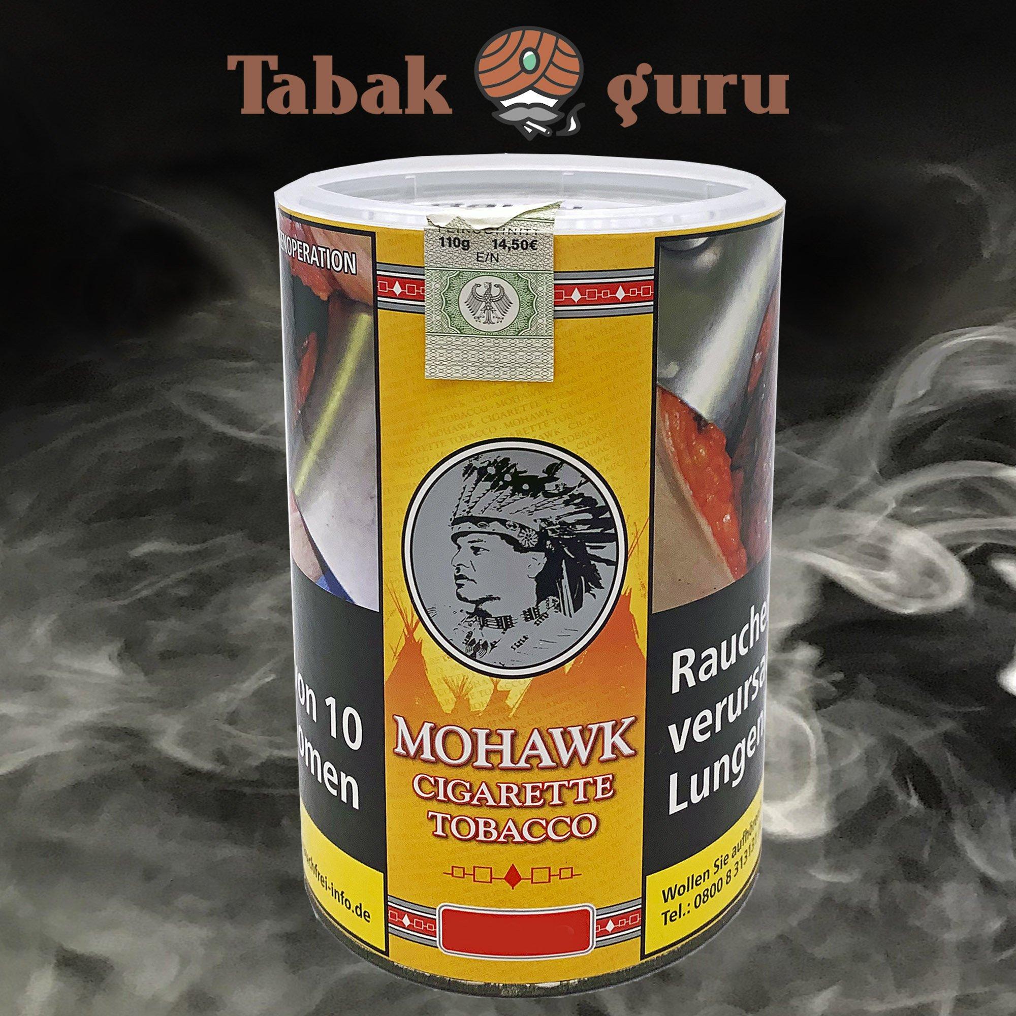 Mohawk Cigarette Tobacco Volumen- / Zigarettentabak 110g Dose