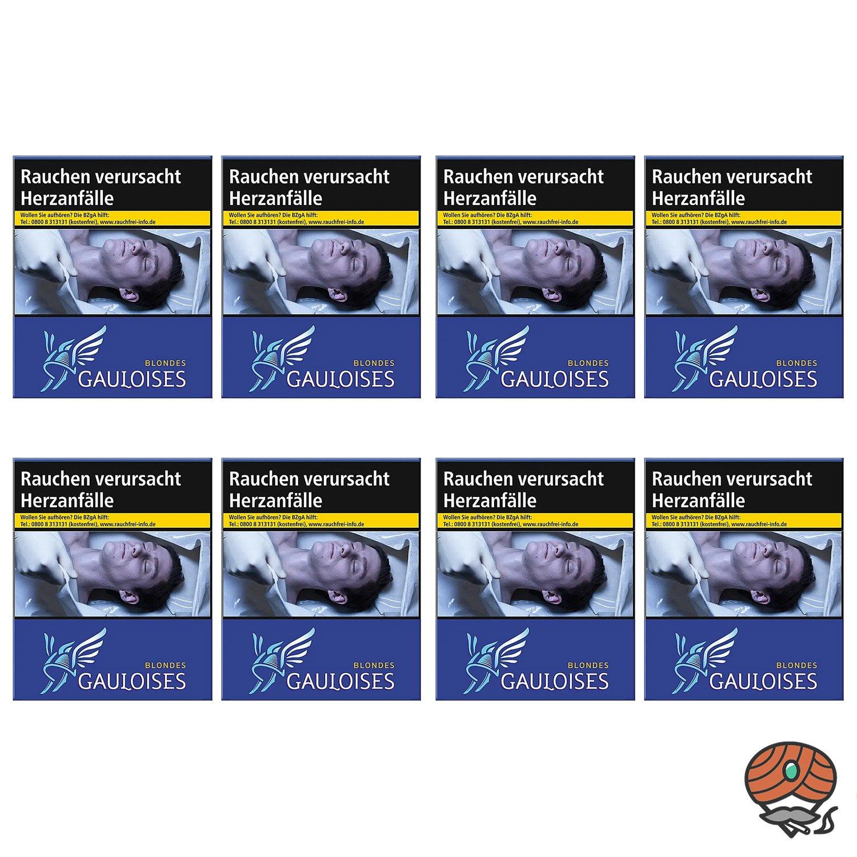 1 Stange Gauloises Blondes Blau Zigaretten XXL Schachtel 8x23 Stück