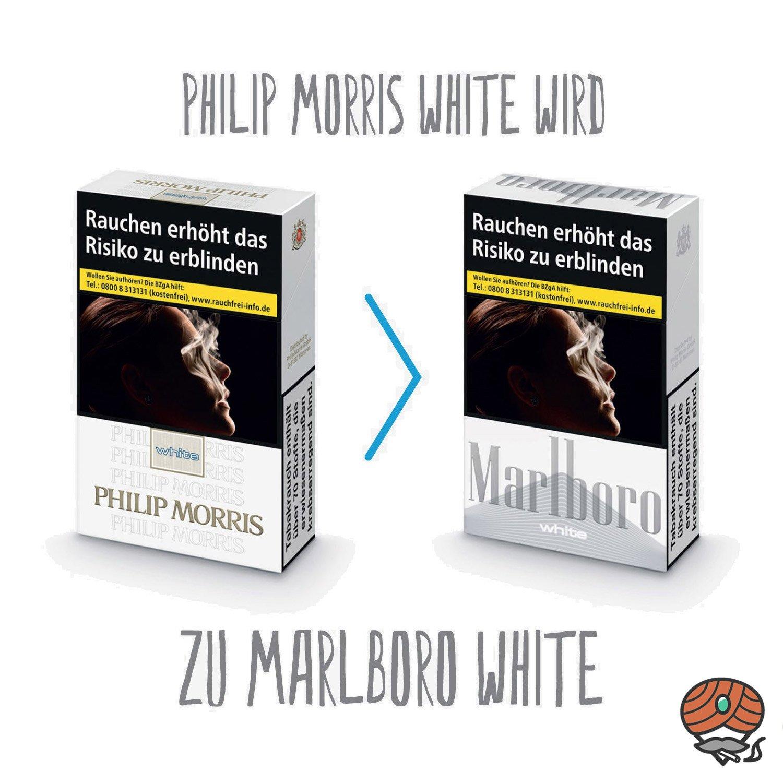 Marlboro White (Philip Morris White) Filterzigaretten Inhalt 20 Stück