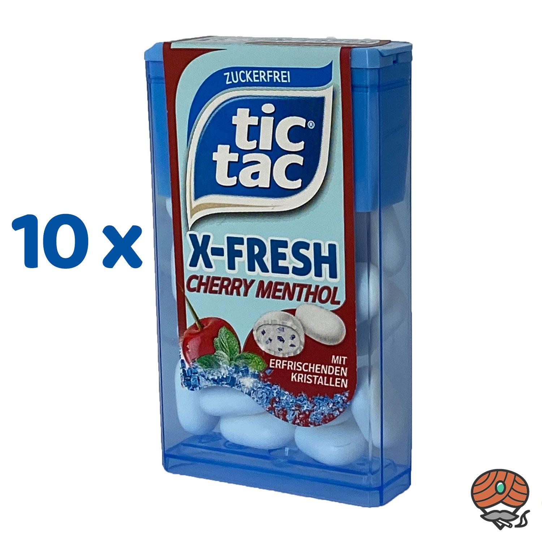10 x Tic Tac X-Fresh, Cherry Menthol Dragee 16,4 g