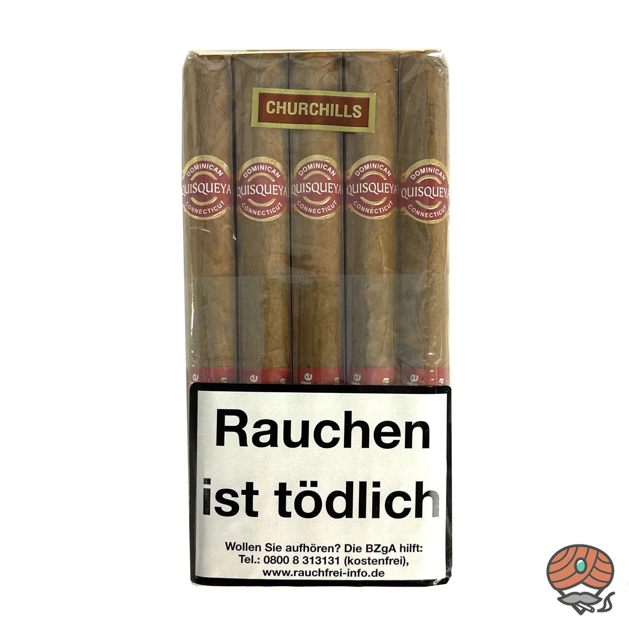 10 Quisqueya Connecticut Churchills Zigarren im 10er Bundle Dominikanische Republik