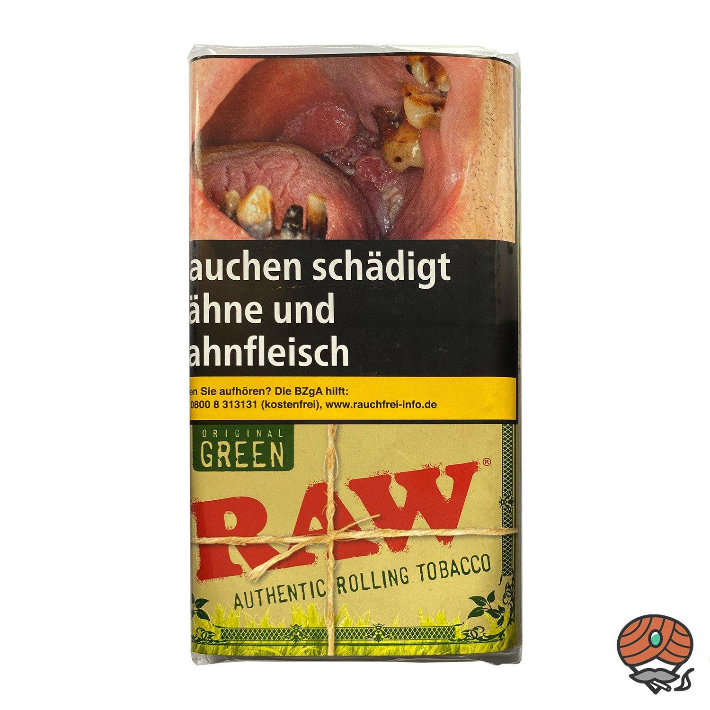 RAW Original Green Authentic Rolling Tabak / Drehtabak Pouches 30 g