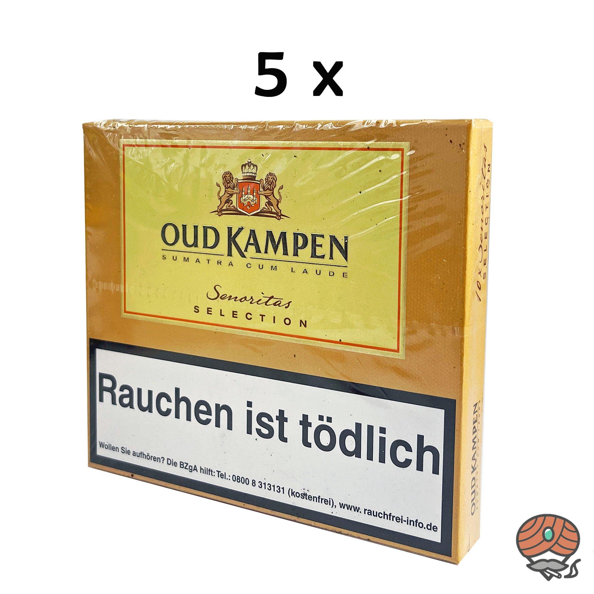 5x Oud Kampen Senoritas Selection Zigarillos 100% Tabak