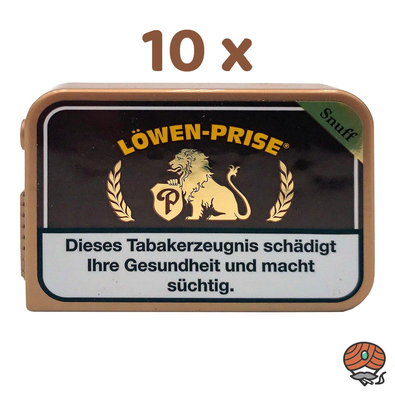10 x Löwen-Prise Schnupftabak à 10 g Dose