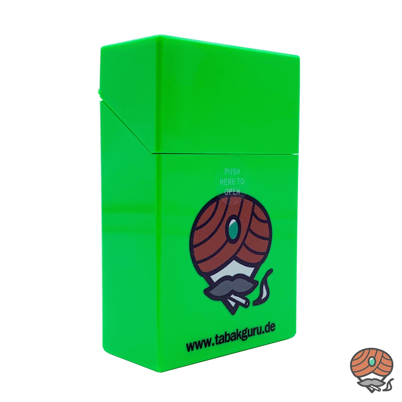 Atomic Sprungdeckel Zigarettenbox Grün Tabakguru Motiv