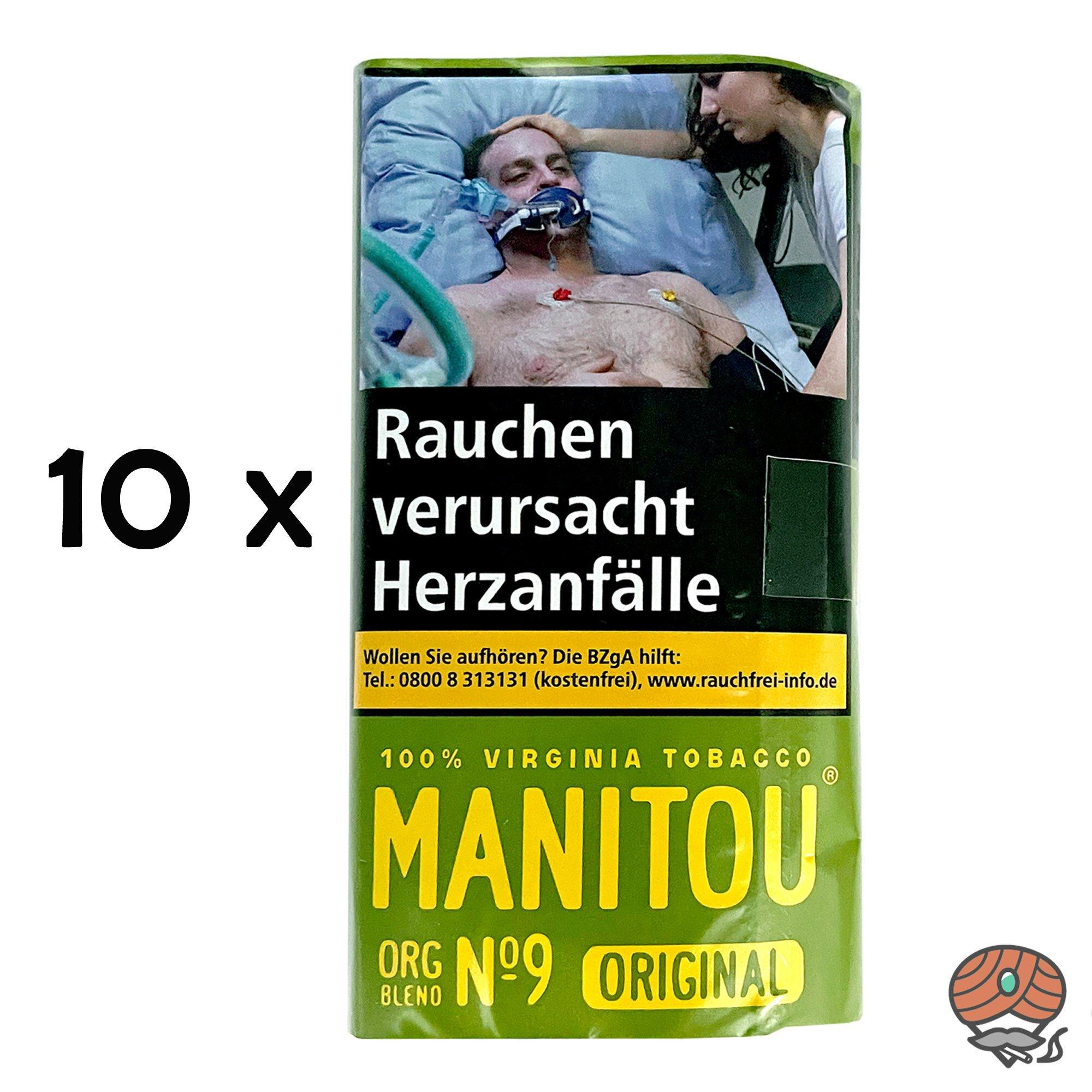 Manitou Organic Blend No.9 Green 10x 30g Drehtabak