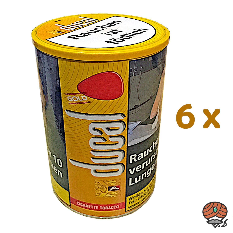 6 x Ducal Gold Feinschnitt-Tabak / Zigarettentabak Dose à 200 g
