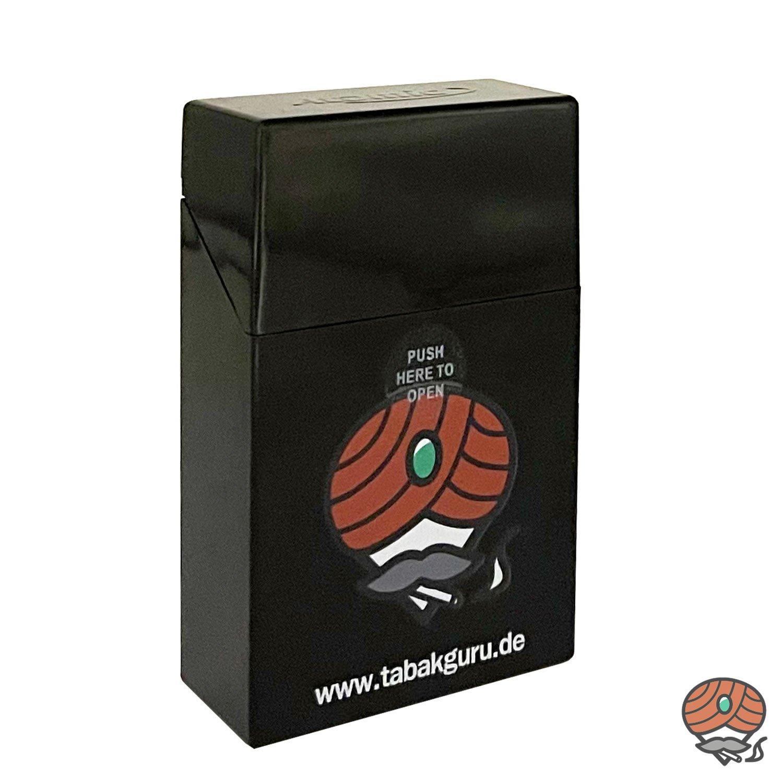Atomic Sprungdeckel Zigarettenbox Schwarz Tabakguru Motiv