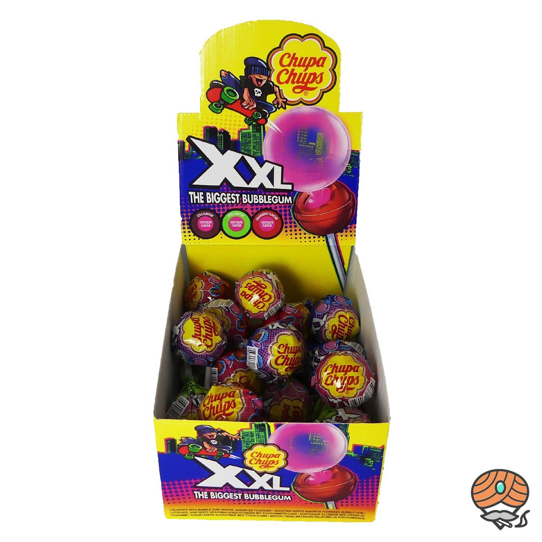 25 x Chupa Chups XXL The Biggest Bubblegum Lollipop mit Kaugummi à 29 g