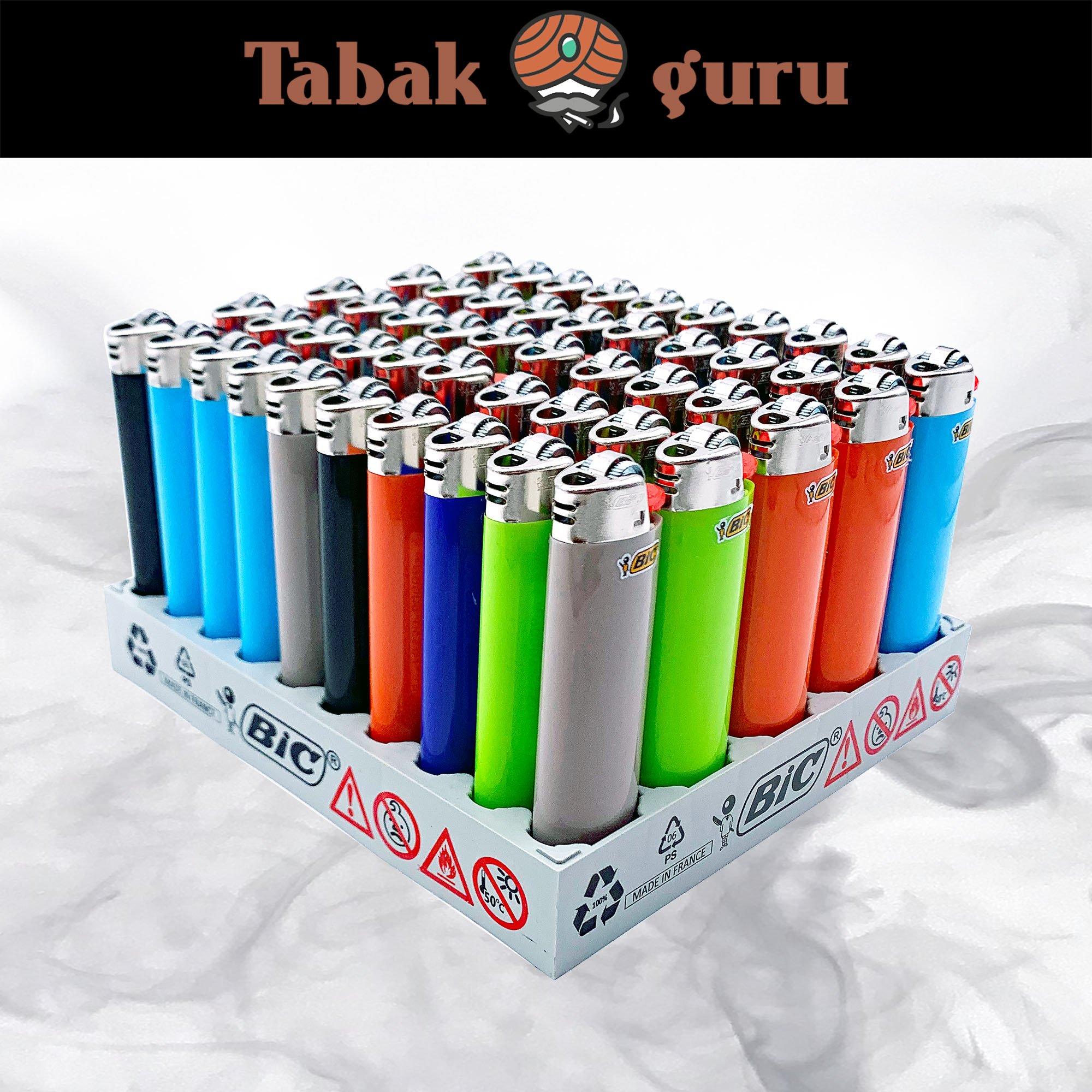 50 BIC Maxi Reibrad Feuerzeug verschiedene Farben