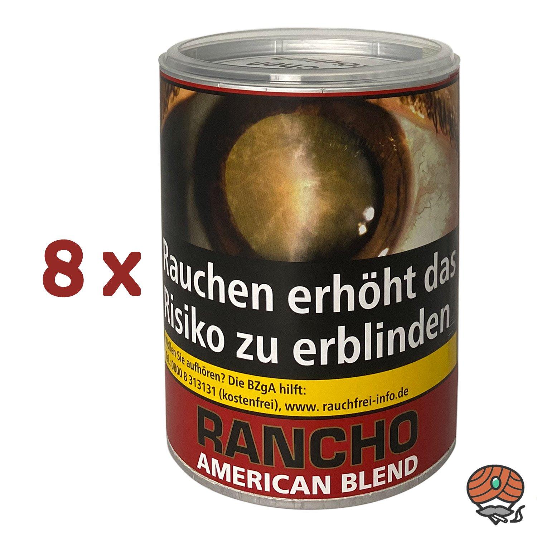 8 x Rancho American Blend Zigarettentabak Dose à 190 g