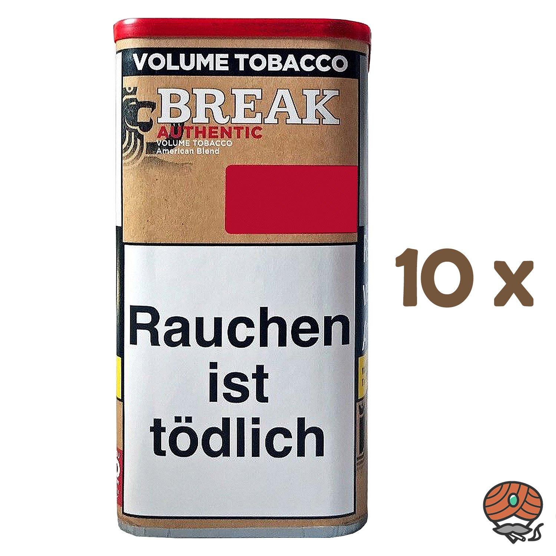 10x Break Authentic Volumentabak / Tabak XXL Dose à 75g