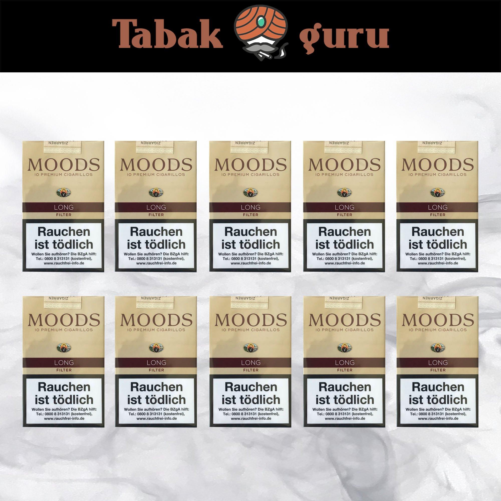 10 x Moods LONG Filterzigarillos à 10 Stück