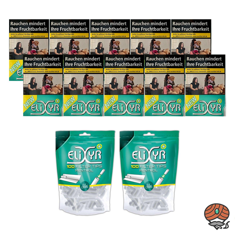 1 Stange Elixyr Plus Zigaretten mit Flow Filter 10 x 20 Stück + 200 Elixyr Filter Tips
