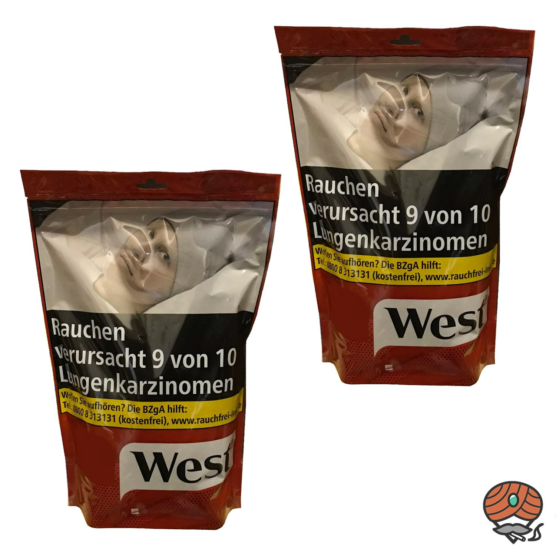 2 x West Red / Rot 200 g Volumentabak Beutel